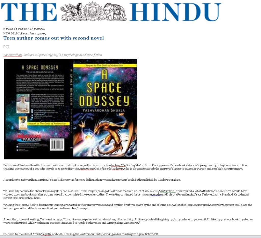 The Hindu in School 12 December 2015