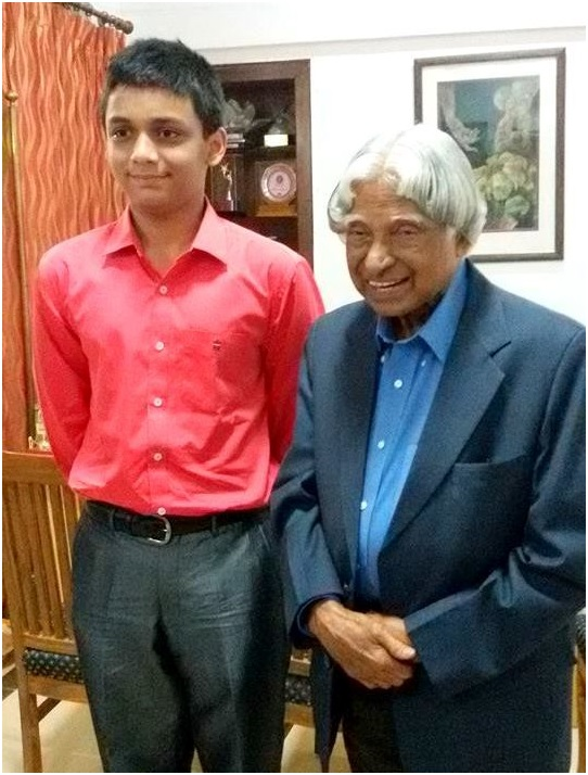 yashvardhan with Mr. A.P.J. Abdul Kalam